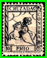 ESPAÑA – 10 CENTIMOS AÑOS 1936 VIÑETA - GUERRA CIVIL - CRUZADA CONTRA EL FRIO – GUERRA CIVIL ESPAÑOLA - 1931-Hoy: 2ª República - ... Juan Carlos I