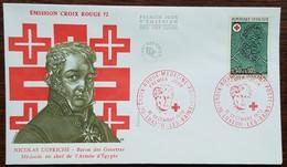 FDC 1972 - YT N°1735 - CROIX ROUGE - LUXEUIL LES BAINS - 1970-1979
