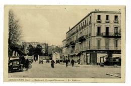 Draguignan - Boulevard Georges-Clémenceau - La Préfecture ( Animation, Autobus Devant Carbonel, Tailleur ) Circ 1939 - Draguignan