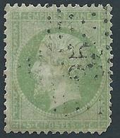 FRANCE - 1862 - Napoléon - YT N°20 - 5 C. Vert - Oblitéré Etoile 35 - Bon Etat - Manque Dent Bas Droite - 1862 Napoléon III.