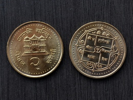 Nepal Münzen 2 Rupees Km1151 UNC COIN CURRENCY ASIEN - Népal