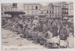 CHERBOURG - Le Marché, Place Du Château - LL 140 - Envoi Pour Fontaine Villa Bronzini Bastia Corse - Cherbourg