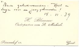 Visitekaartje - Carte Visite - H. Blomme - Onderpastoor St Michiels - Gent - Cartes De Visite