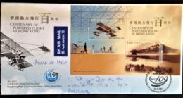"Hong Kong, Circulated FDC To Portugal, ""Aviation"", ""Aircrafts"", 2011 - 1997-... Chinese Admnistrative Region"