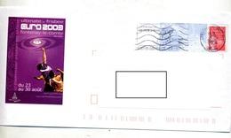 Pap Luquet Flamme La Roche Napoleon + Muette  Illustré Championnat Europe Frisbee - Entiers Postaux
