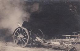 PHOTO 7,5 X 12,5 . MILITARIA . CANON En Action (Guerre 14/18) - Guerre, Militaire