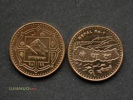 Nepal Münzen 1 Rupee UNC COIN CURRENCY ASIEN Random Year - Nepal