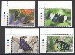 2020 COOK ISLANDS BUTTERFLIES OF THE WORLD FLORA & FAUNA SET MNH - Farfalle