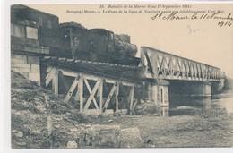 CPA. 19. Bataille De La Marne Revigny Le Pont De La Ligne De Vouziers Après Sont Rétablissement Circulée 1914 - Guerra 1914-18