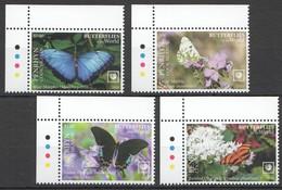 2020 PENRHYN BUTTERFLIES OF THE WORLD FLORA & FAUNA SET MNH - Farfalle
