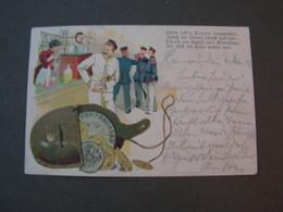 Preussen Giesen Hanau 1902 Litho , Leider Bug Mitte Not Perfect - Humoristiques