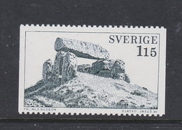 ARCHAEOLOGY ARCHÄOLOGIE ARCHÉOLOGIE ARQUEOLOGÍA DOLMEN LUTTRA SWEDEN SUEDE SCHWEDEN 1978 Mi 1031  MNH - Archéologie