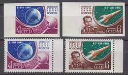 Russia, USSR08.08/15.09.1961 Mi # 2521-22 AB;Vostok 2 Space Mission, G. Titov MNH OG - Nuevos