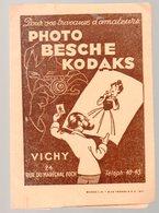 Vichy (03 Allier)   (photo)  : Porte -photos Ou Négatfs PHOTO BESCHE  KODAKS (22069) - Advertising