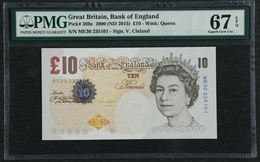 2000 Great Britain Bank Of England 10 Pounds Pick#389e PMG 67 EPQ Superb Gem UNC - 1952-… : Elizabeth II