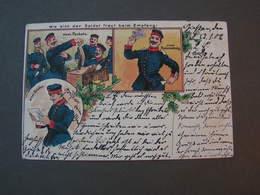Giessen Hanau 1902 Litho - Uniformes