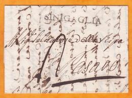 1811- Lettre Avec Correspondance En Italien De Sinigaglia  Senigallia,Marches, République Romaine Vers Pesaro, Marches - 1. ...-1850 Prefilatelia