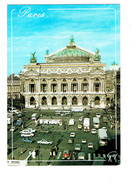 Cpm - 75 - PARIS - Place Théâtre De L'opéra - Voiture GS CITROEN Coccinelle Autobus Moto R5 - France