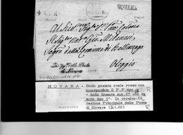 CG25 - Lett. Da Novara X Oleggio 4/1/1822 - Italia
