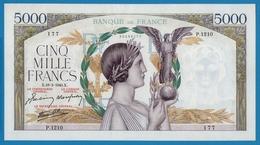 """FRANCE 5000 Francs 18.2.1943 """" Victoire"""" # P.1210  177  F# 46/48 - 1871-1952 Frühe Francs Des 20. Jh."""