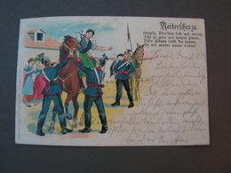 Reserve Hat Ruhe Giessen Hanau 1902 Litho - Humoristiques