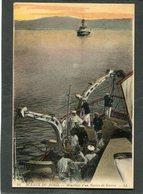 CPA - SCENES DE BORD - Mouillage D'un Navire De Guerre, Animé - Krieg