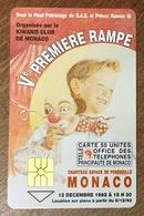 Ve RAMPE DU CIRQUE TELECARTE MONACO RÉF PHONECOTE MF26 PHONECARD CARTE A PUCE - Monaco
