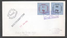 1971, Lettre De Southampton, Affranchie Avec Des Vignettes: Strike Letter Inland Service - Covers & Documents