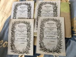 4 Mérites Dames Du Saint Enfant Jesus  à Montauban 82 - Diplômes & Bulletins Scolaires