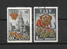 URSS - 1953 - N. 1660/61 USATI (CATALOGO UNIFICATO) - 1923-1991 USSR