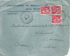 """Motiv Briefvs  """"Fromagerie De Breuvannes""""        1936 - Storia Postale"""
