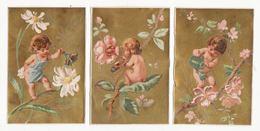 Chromo   AU PRINTEMPS     Lot De 6     Enfants, Fleurs    11 X 7 Cm - Trade Cards