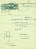 """LEISNIG Sachsen B Freiberg Mittweida Rechnung 1916 Deko """" OTTO SCHURICH Grabsteine Und Sägewerk """" - Allemagne"""