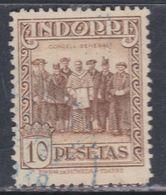 Andorre Espagnol N° 26 A O  Partie De Série : 10 P. Brun-jaune Oblitération Légère Sinon TB - Andorre Espagnol