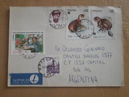 Enveloppe Polonaise Envoyée En Argentine Avec Des Timbres Modernes - 1944-.... Republic