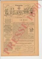 2 Scans Presse 1890 Le Biou Arbois Jura Vin Henri Vuillame Musique Flageolet Danse Pipes Maréchal Ruchon 229CH2 - Vieux Papiers