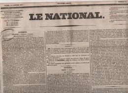 LE NATIONAL 25 01 1831 - POLOGNE - MODENE ITALIE - RENTIERS - BELGIQUE - PRUSSE - TOULON - LA CROISILLE SUR BRIANCE ... - Zeitungen