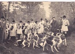 PHOTO ORIGINALE 17 Cm X 12 Cm EQUIPAGE Chasse à Courre Du Baron De Champchevrier En Fôret De Gizeux 37 Le 20 Mars 1952 - Lieux