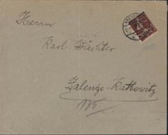 YT 22 Semeuse Camée 20 Ct Brun Foncé Surcharge Memel 40 Pf CAD Memel 2 11 20 Pour Katowitz Pologne - Used Stamps