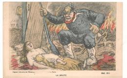 Militaires -  Satyrique  - La Brute   - Casque Allemand - CPA° - War 1914-18