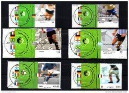 Emission Commune France Italie Allemagne Argentine Brésil Uruguay COUPE DU MONDE FIFA 2002 3483 3484 2010 2011 2758 2759 - Joint Issues