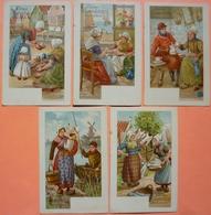LOT DE 5 CARTES CACAO BENSDORP AMSTERDAM  - 2 SCANS-13 - Werbepostkarten