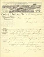 """CHEMNITZ Sachsen Rechnung 1916 Deko """" Gottreich LOHSE - Betonbrücken Strassenbau Bauwaren """" - Transports"""