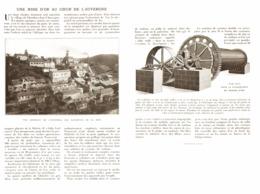 """UNE MINE D'OR Au COEUR De L'AUVERGNE Au VILLAGE De   """" CHAMBON """"  1913 - Auvergne"""