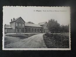Ancien CP Ollignies Ecole Des Filles Et Maison Communale N° 12 Edit De Muynck - Lessines