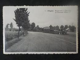 Ancien CP Ollignies Boulevard J. Chevalier Et Chaussée Albert Ier N° 11 Edit A. De Muynck - Lessines