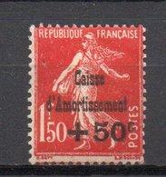- FRANCE N° 277 Neuf * MH - +50 C. S. 1 F. 50 C. Rouge Caisse D'Amortissement 1931 - Cote 125 EUR - - France
