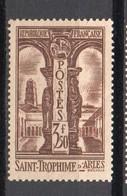 - FRANCE N° 302 Neuf ** MNH - 3 F. 50 Brun St-Trophime 1935 - Cote 90 EUR - - France