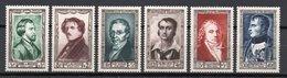 - FRANCE N° 891/96 Neufs ** MNH - Série Complète Célébrités 1951 - Cote 60 EUR - - Neufs