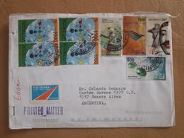 Enveloppe De L'Indonésie Envoyée En Argentine Avec Beaucoup De Timbres Modernes - Indonesia